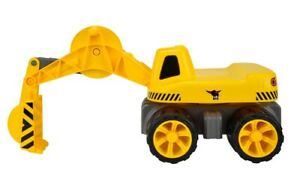 Big Power Worker Maxi Digger Sitzbagger in gelb/schwarz | Sandspielzeug