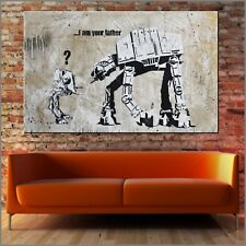 Banksy Star Wars I Am Your Father  Street Art Textured Painting 160cm x 100cm