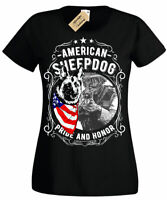 American Sheepdog T-Shirt Womens Ladies