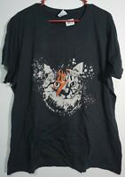 NEW David Bowie - Aladdin Sane Kitty Cat  Women's Black 2XL T-Shirt