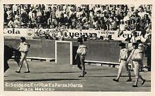 RPPC  BULLFIGHT   Plaza Mexico  EL SOLDADO Enrique EsParza y Garza 1956 Postcard