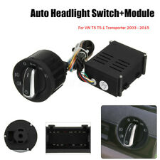 Car Auto Headlight Fog Light Sensor Switch & Module Upgrade For VW T5 5.1 03-15