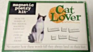 Cat Lover Magnetic Poetry Kit - 240 Magnetic Word Tiles for Catty Compositions!