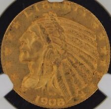 1908 $5.00 Gold Indian NGC MS 62