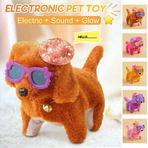 Electronic Dogs Pets Doll Stand Walk Kids Child Interactive Puppy Toys  \cn A*