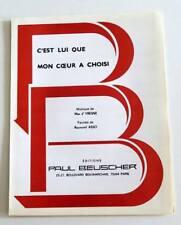 Partition sheet music EDITH PIAF : C'est Lui que mon Coeur a Choisi * 30's