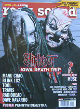 ROCK SOUND 39 2001 Slipknot Radiohead Tool Travis Muse Navarro Manu Chao Cult