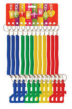12 SPIRAL STRETCHY RETRACTABLE SPRINGY KEYRINGS Keychain Party Loot Bag Filler