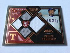 Prince Fielder 2016 Topps Museum Coll. Primary Pieces Game Used 2cl.Jersey #/75