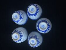 ANTIQUE CHINESE BLUE WHITE PORCELAIN TRANSLUCENT RICE GRAIN PATTERN BOWLS CUPS 5