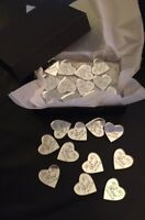Personalised Wedding Favours Table Confetti Decorations Silver Mirror Hearts 50