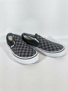 Vans Kids Slip On Black/ Gray Checkered, New w/o Box, Size 3 Kids, Nice!