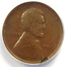 """1922 No D """"Plain"""" Strong Reverse Lincoln Wheat Cent Penny 1C - ANACS F12 Details"""