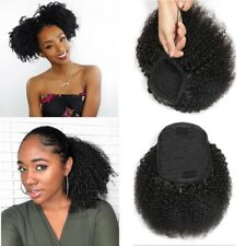 Afro Kinky Curly 4C Human Hair Ponytail Drawstring Hairpieces Clip in Ponytail