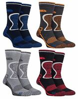 Storm Bloc - 2 Pack Mens Thick Heavy Duty Padded Thermal Wool Work Hiking Socks