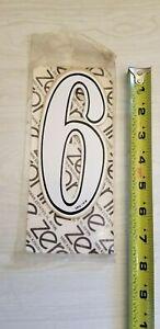 """old school ZeroNine BMX White w/ Black number plate number # 6 GT Redline NOS 6"""""""