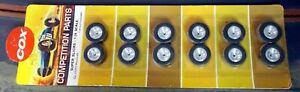 COX 1/24 3372 SUPER SLICKS - REAR HARD SMALL (SIX PAIRS) NEW OLD STOCK