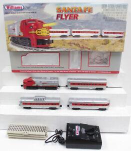 Williams 00321 Santa Fe Flyer O Gauge Diesel Passenger Train Set  EX/Box