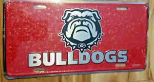 Brand New! Georgia Bulldogs Mosaic License Plate Tag University of Georgia