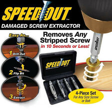 Damaged Screw Bolt Remover Extractor Drill Bits Speed Out 4Pcs/Set As Seen on TV