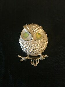 """Vintage Sarah Coventry Owl Pin ~ """"Hooter"""" ~ 1971"""