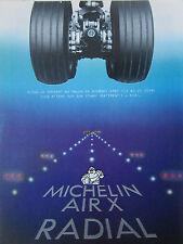 6/1987 PUB MICHELIN AIR X RADIAL TIRE PNEU AVIATION AIRLINER ORIGINAL FRENCH AD