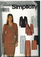 7100 UNCUT Simplicity Sewing Pattern Misses Skirt Slim Pants Lined Jacket OOP FF