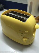 New Yellow Mini Bread Maker Touch Electric Oven 2 Slicer Toaster Machine