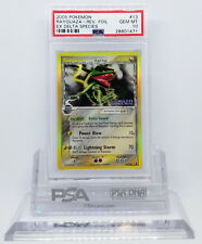 Pokemon EX DELTA SPECIES RAYQUAZA #13 REVERSE HOLO FOIL CARD PSA 10 GEM MINT #*