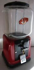 Restored Cast Iron Vendor 1c Peanut / Candy Dispenser circa 1940's (red )