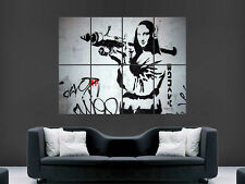 Banksy graffiti street art mona lisa giant poster art photo imprimé large