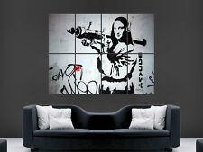 BANKSY GRAFFITI STREET ART MONA LISA GIANT POSTER ART PICTURE PRINT LARGE