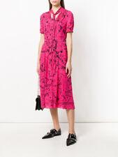 BURBERRY  WOMENS Tie-neck maxi dress- FLURO PINK - SIZE- 10 -BRAND NEW