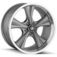 "Staggered Ridler 651 Front:18x8,Rear:18x9.5 5x4.75"" +0mm Gunmetal Wheels Rims"