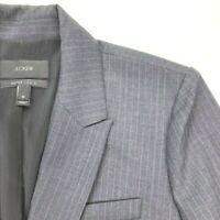 J Crew Women's Sydney Charcoal Gray Pinstriped Blazer Jacket Wool • Size 10