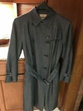 BURBERRY VINTAGE Trench Coat in DENIM--Size 10