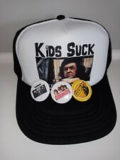 Goonies Button Trucker Hat Retro 80's Poster lunch box collectible