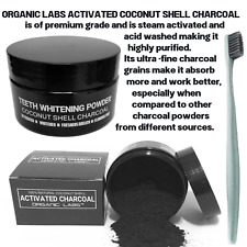 ACTIVATED COCONUT CHARCOAL TOOTHPASTE 100% NATURAL TEETH WHITENING POWDER