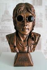 John Lennon bronzed bust/statue.