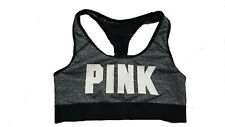 Victoria's Secret Pink Logo Ultimate Racerback sport Bra Marl Gray Large