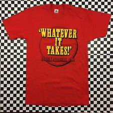 VTG Fruit Of The Loom Whatever It Takes Design Products T Shirt Mens Large Red