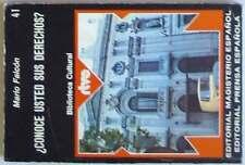 ¿CONOCE USTED SUS DERECHOS? - BIBLIOTECA CULTURAL RTVE Nº 41 - 1975 - VER ÍNDICE