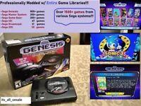 SEGA Genesis Mini Console w/ 2 Controllers & 1500+ Games (Sega CD, 32X) NEW
