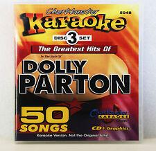 Karaoke Chartbuster  5048 Dolly Parton Hits 3 Disc Set Includes Song List !!