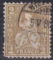 Switzerland 1867 Zumstein 37A CV €350 Used Hinged No Gum