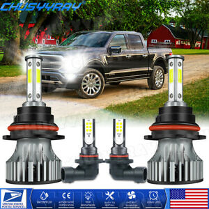 For Ford F-150 1999-2003 LED Headlight + Fog Lights Combo 9007 HB5 9145 9140 4PC