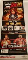 WWE 2K19 Promo Gamestop Poster. Rare. Large. 2 Piece