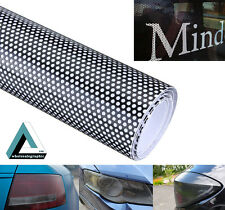 350x107cm Car Window FlyEye Spi Vision Headlight Vinyl Wrap Black Mesh Tint Film