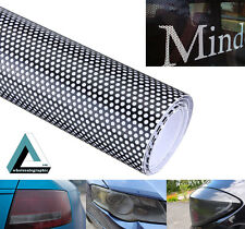 350x107cm Car Window FlyEye Spi Vision Headlight Vinyl Wrap Black Mesh Tint Film