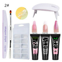 Poly Builder Gel Kit DIY Crystal Nail Art Glue Quick Extension with UV LED Lamp